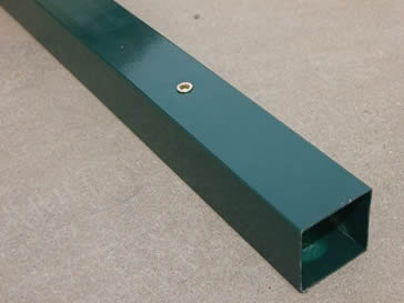 Green powder coated fencing post