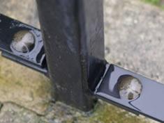 Palisade fencing RSH steel post - black powder coating