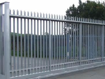 Galvanised palisade sliding gates for cars & trucks.